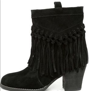 Sbicca sound suede leather fringe booties 🌻